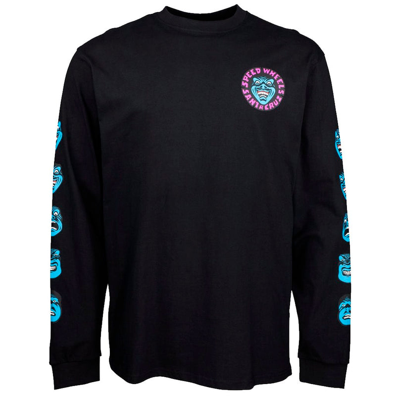 Santa Cruz Speed Wheels Black Tshirt L/S- Camiseta - Furtivo! Skateboarding