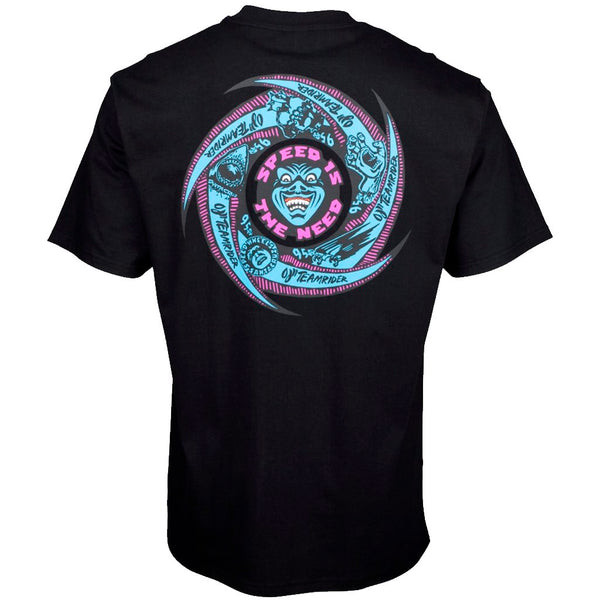 Santa Cruz Speed Wheels Face Black Tshirt- Camiseta Ropa Santa Cruz Skateboards