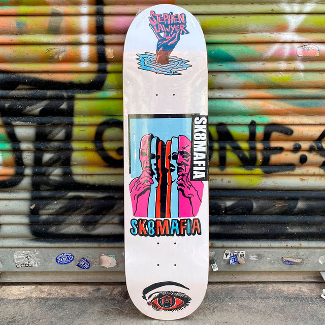 Skate Mafia Stephen Lawyer Ward 8.25 x 32 Deck Tabla Skate - Furtivo! Skateboarding