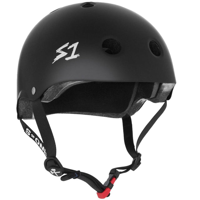 S-ONE Mini Lifer Black Matte Helmet Casco-Protecciones - Furtivo! Skateboarding