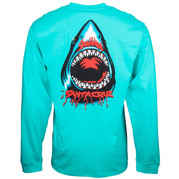 Santa Cruz Speed Wheels Pacific Blue Tshirt L/S- Camiseta Ropa Santa Cruz Skateboards