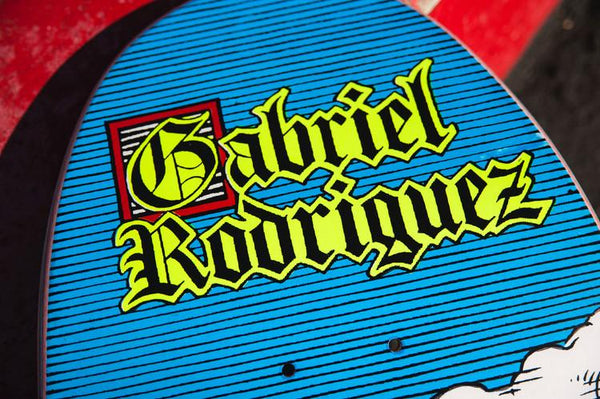 Tabla 101 Gabriel Rodriguez Jesus Screened Reissue Skateboard Deck Details