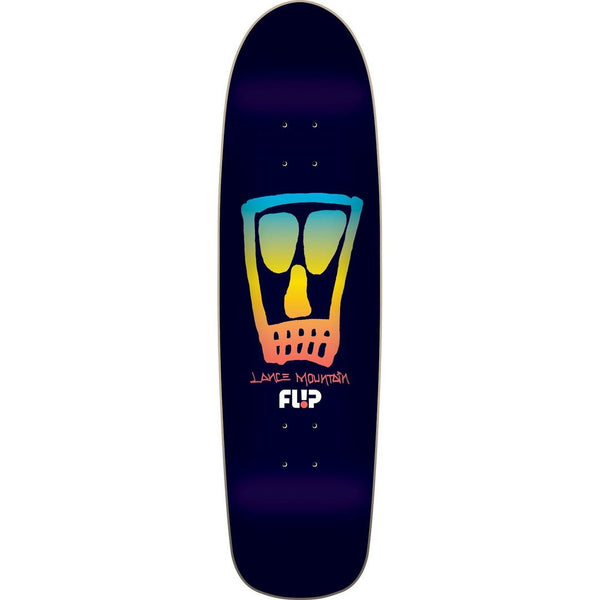 Tabla Flip Skateboards 9.0in x 32.5in Mountain Vato Skull Black Fade Pro P2 Deck - Furtivo Skateboarding