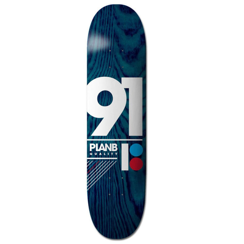 "Tabla PLAN B TEAM 91 B 8.75"" DECK (BLUE) - Furtivo Skateboarding"