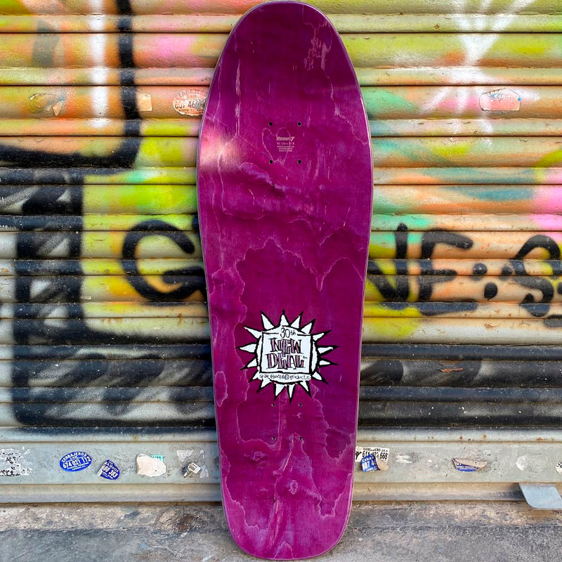 New Deal Templeton Crowd Screen Printed Purple Reissue Skateboard Deck- Tabla Skate - Furtivo! Skateboarding