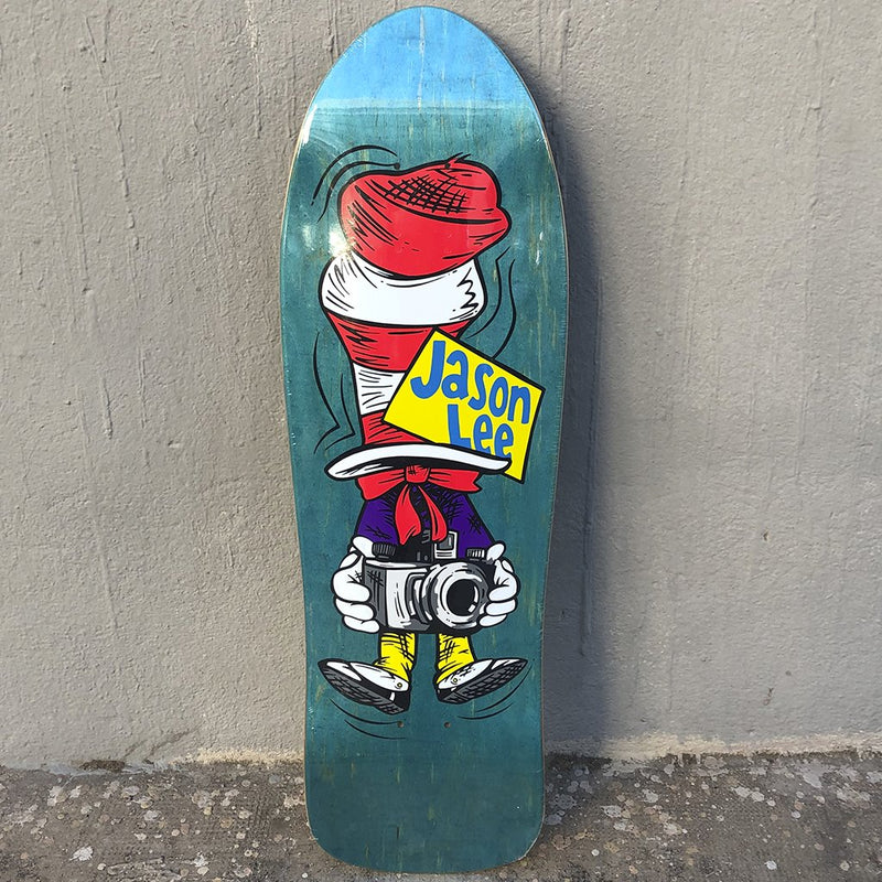 The Folklore Project Jason Lee Cat in The Hat Reissue Skateboard Deck- Tabla Skate - Furtivo! Skateboarding