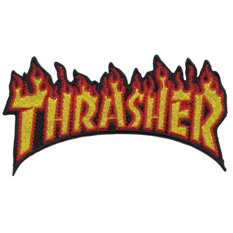 Thrasher Flame Patch -Parche - Furtivo! Skateboarding