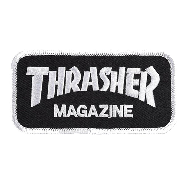 Thrasher Logo Patch Black -Parche - Furtivo! Skateboarding