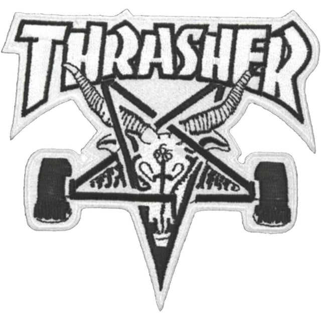 Thrasher Skate Goat Patch White -Parche - Furtivo! Skateboarding