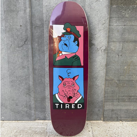 Tired Skateboards Cop and  Rat 9.7 Skateboard Deck -Tabla Skate - Furtivo! Skateboarding
