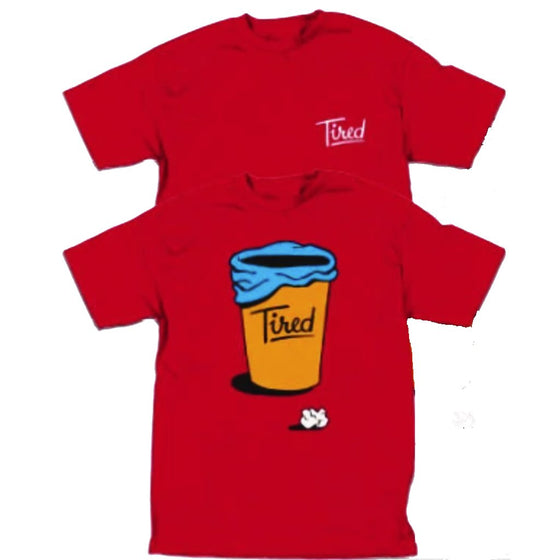 Tired Skateboards Close Enough Red Tshirt- Camiseta - Furtivo! Skateboarding