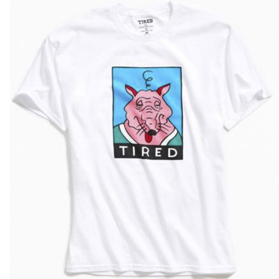 Tired Skateboards Rat Tee White Tshirt- Camiseta - Furtivo! Skateboarding