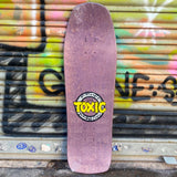 Toxic Team Logo Purple Reissue Skateboard Deck- Tabla - Furtivo! Skateboarding