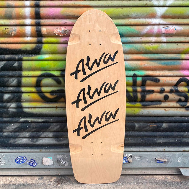 Alva Skates Tri logo 79 Reissue Black Skateboard Deck-Tabla - Furtivo! Skateboarding