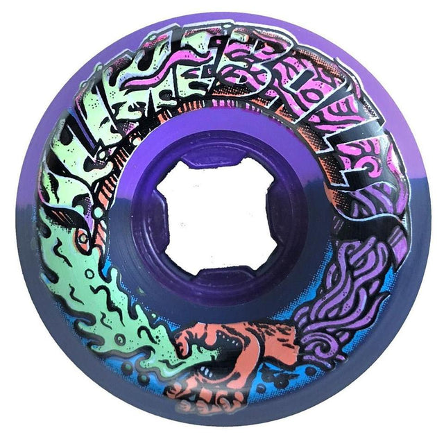 Santa Cruz Greetings Speed Balls Purple/Black 53mm 99A Slime Balls Wheels - Ruedas Ruedas Santa Cruz Skateboards