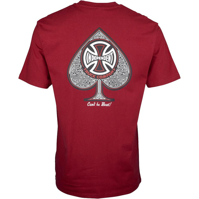 Independent CBB Cross Spade Maroon T-shirt - Camiseta Ropa Independent