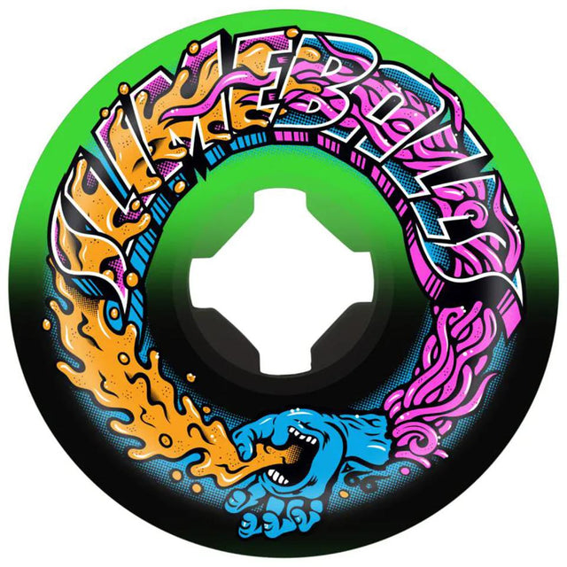 Santa Cruz Greetings Speed Balls Green/Black 56mm 99A Slime Balls Wheels - Ruedas Ruedas Santa Cruz Skateboards