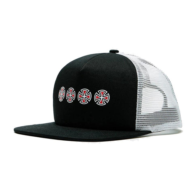 Independent Cross Sequent Snapback Black/White Cap - Gorra Gorras Independent