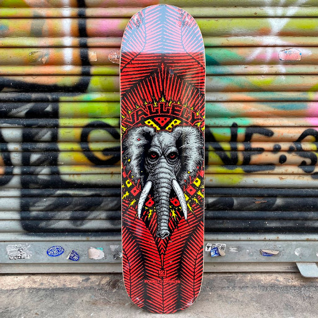 Powell Peralta Vallely Elephant Red 8.25 x 31.95 Skateboard Deck- Tabla - Furtivo! Skateboarding