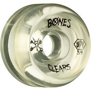 RUEDAS/WHEELS BONES CLEAR 54MM - Furtivo Skateboarding