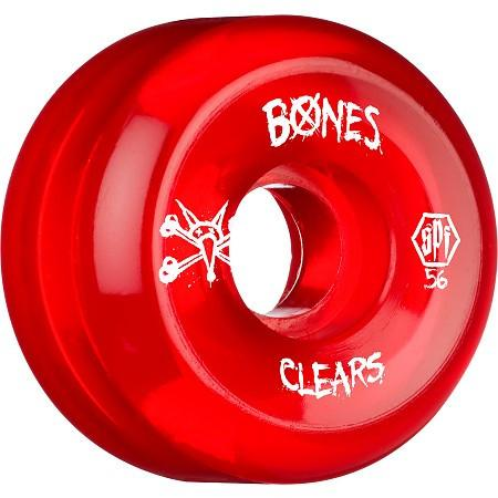 WHEELS BONES CLEAR RED 56MM