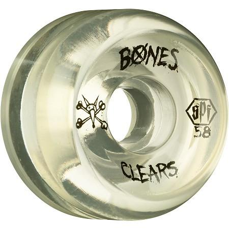 RUEDAS/WHEELS BONES CLEAR 58MM - Furtivo Skateboarding