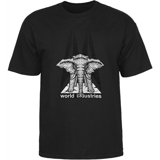 World Industries Elephant on the Edge Mike Vallely by Prime Wood T-Shirt Black- Camiseta - Furtivo! Skateboarding