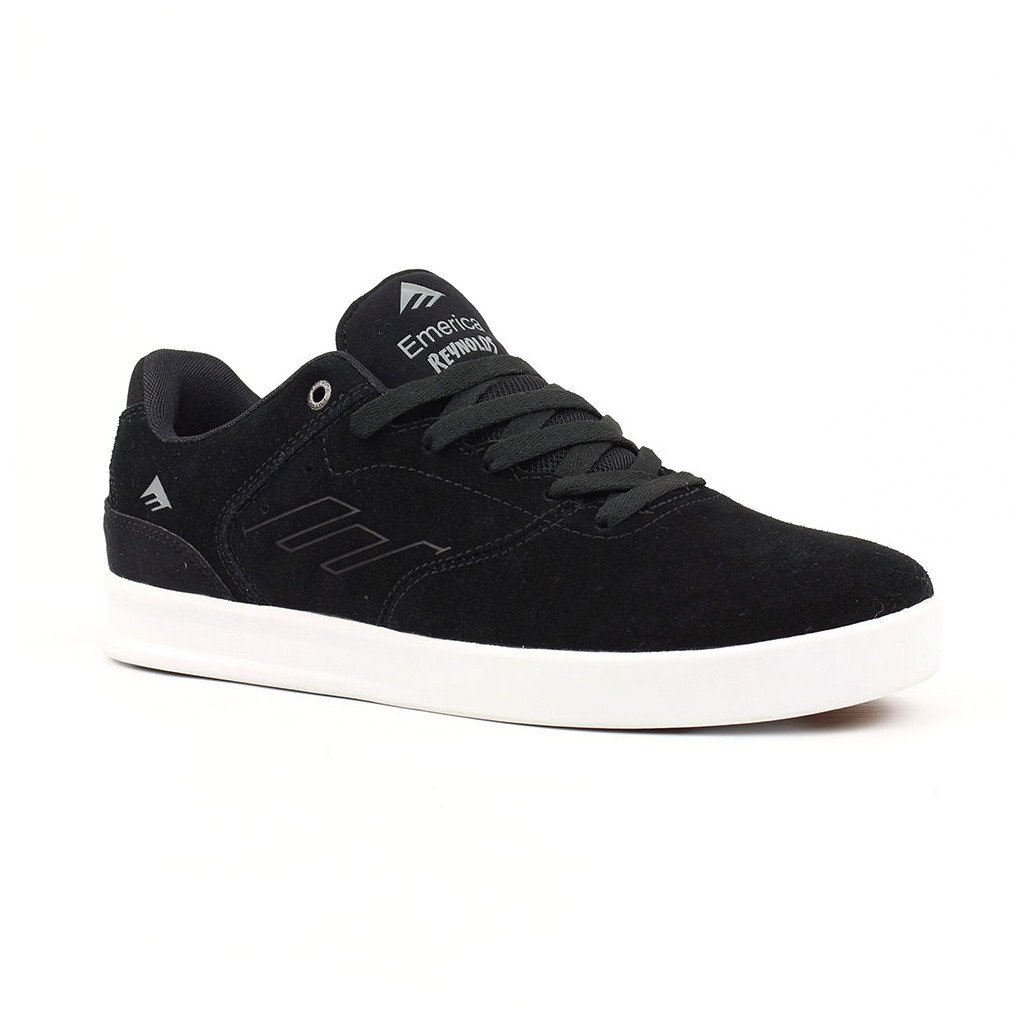 Zapatilla Emerica The Reynolds Low Vulc Black/Silver Skate Shoe