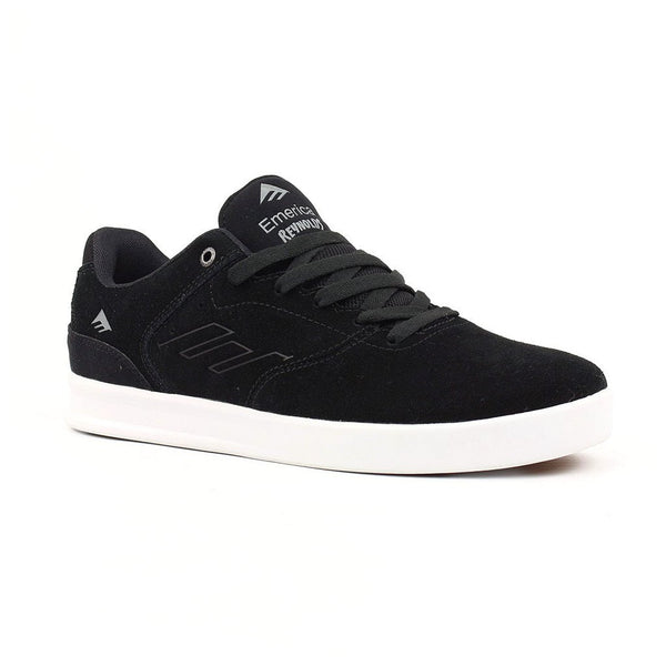 Zapatilla Emerica The Reynolds Low Black/Silver Skate Shoe - Furtivo Skateboarding