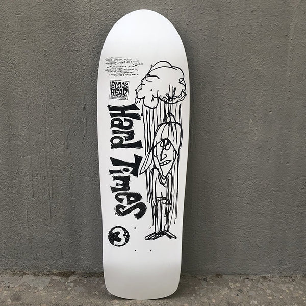 Blockhead Skateboards Hard Times 3 (original shape) Reissue Skateboard Deck- Tabla Skate - Furtivo! Skateboarding