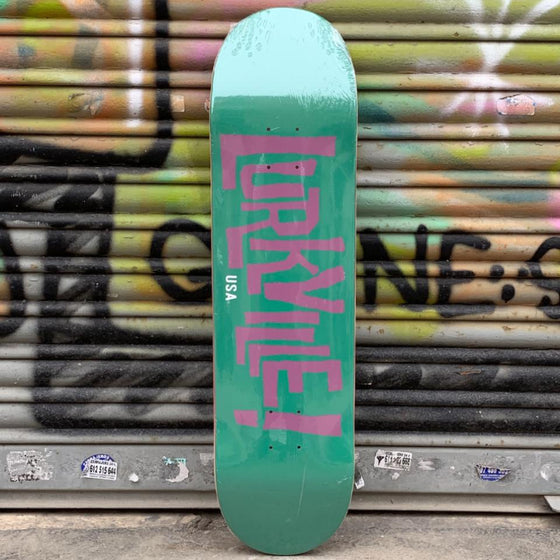 Lurkville Logo Green/Purple 8.25 Skateboard Deck - Tabla Skate Tabla/Deck Lurkville