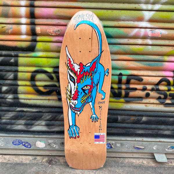 Schmitt Stix Chris Miller Dog Mini 9.125 x 29.75 Reissue Skateboard Deck- Tabla Skate Tabla/Deck Schmitt Stix