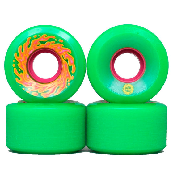 Santa Cruz OG Mini Slime Balls Neon Green 54.5 mm Wheels- Ruedas Ruedas Slime Balls