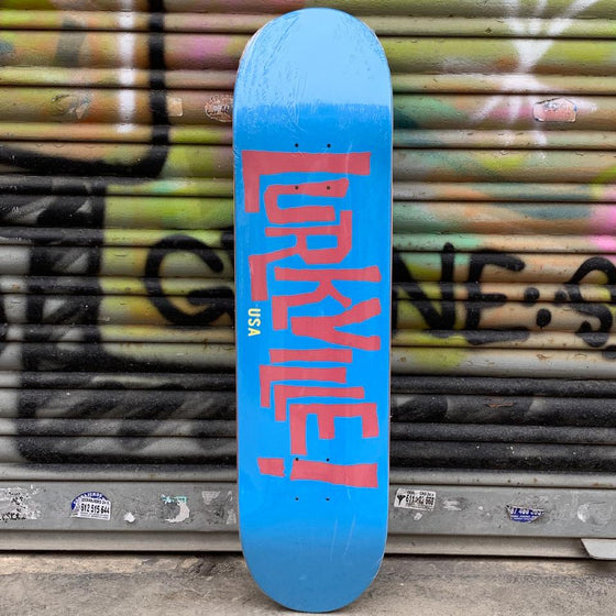 Lurkville Logo Blue/Red 8.0 Skateboard Deck - Tabla Skate Tabla/Deck Lurkville