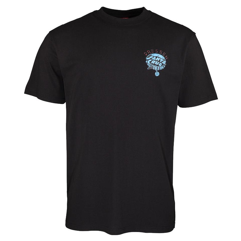 Santa Cruz Dressen Pup Dot Black TShirt - Camiseta Ropa Santa Cruz Skateboards