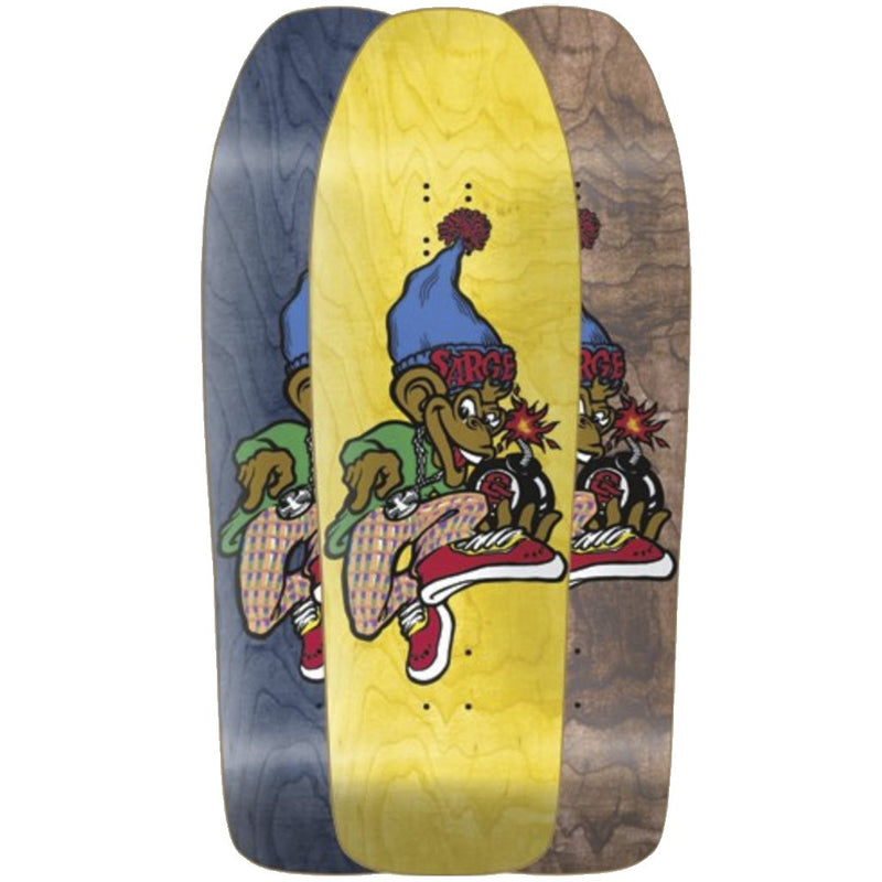 New Deal Sargent Monkey Bomber Screen Printed Reissue Skateboard Deck- Tabla Skate - Furtivo! Skateboarding