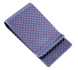Carbon Fiber Kevlar RFID Blocking Money Clip Red/Silver/Black