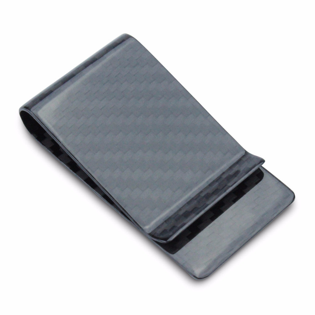 Carbon Fiber RFID Blocking Money Clip Black Gloss