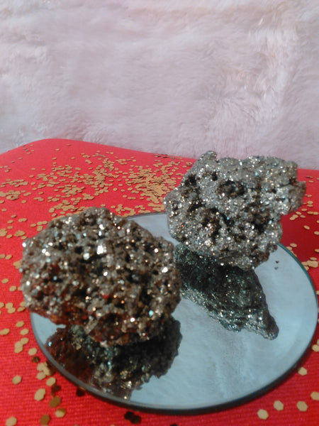 Cocada Golden Pyrite Clusters