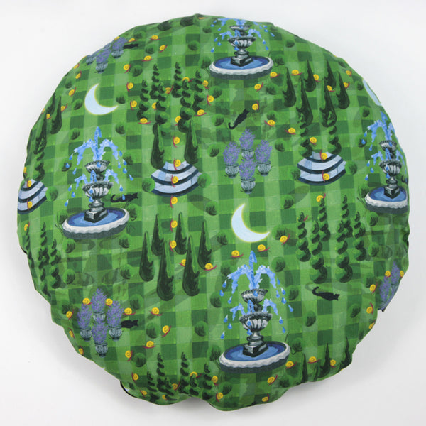Moonlit Mystery Tour Cushion Round