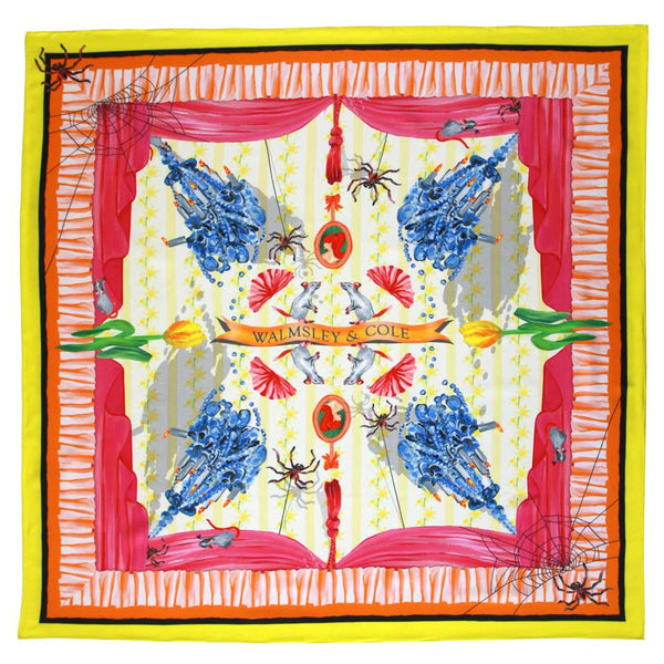 Walmsley and Cole - Chintzy Design - Flat - Silk Scarves NZ
