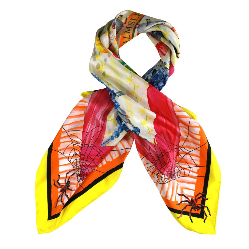 Walmsley and Cole, Chintzy, Silk Scarf, Tied