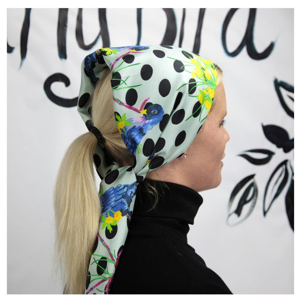 Early Bird - Head Scarf -  Walmsley & Cole - Silk Scarves NZ