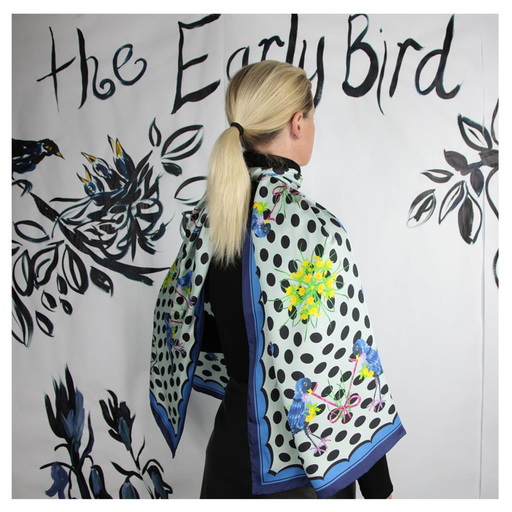 Early Bird - Cape - Walmsley & Cole - Silk Scarves NZ