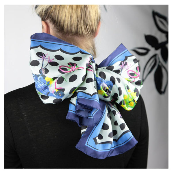 Early Bird - Bow - Walmsley & Cole - Silk Scarves NZ