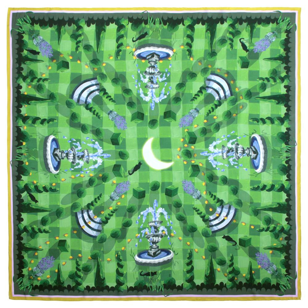 Walmsley and Cole, Moonlit Mystery Tour, Silk Scarf, Flat