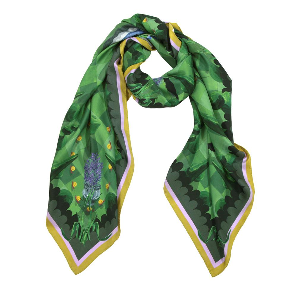 Walmsley and Cole, Moonlit Mystery Tour, Silk Scarf, Tied