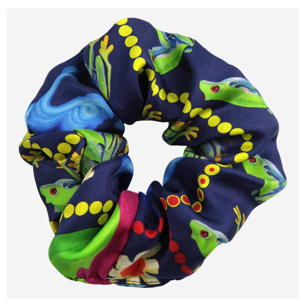 Frog Love Silk Scrunchie - Walmsley & Cole