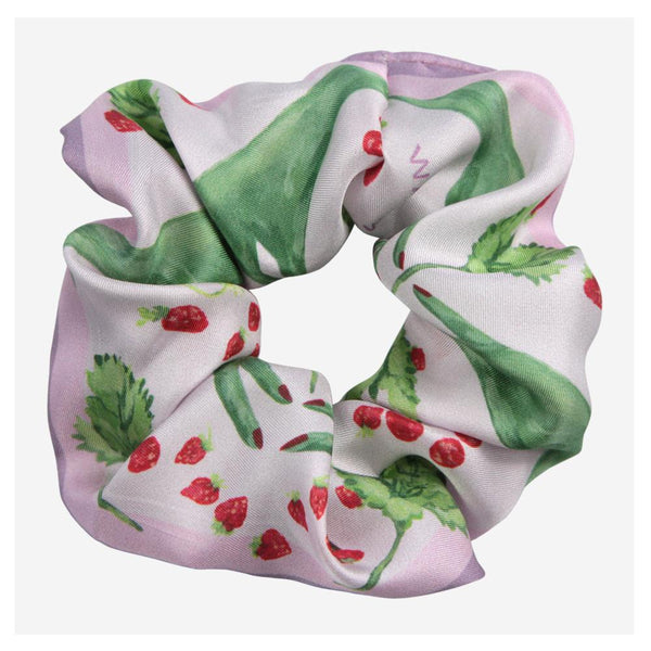Green Fingers Silk Scrunchie