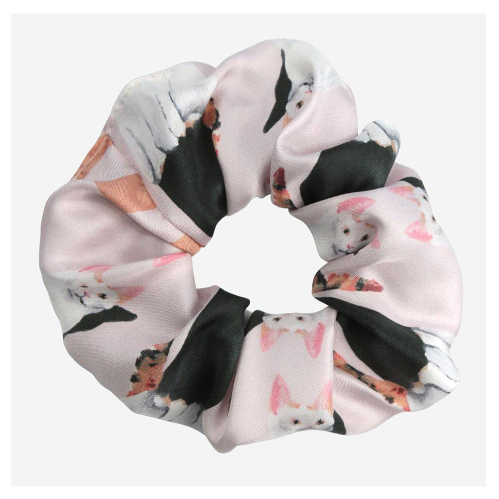 Lady Cat Silk Scrunchie - Walmsley & Cole